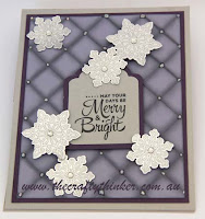 SU, Easel Card, Tags & Labels framelits, snowflakes, Pillow Top Card