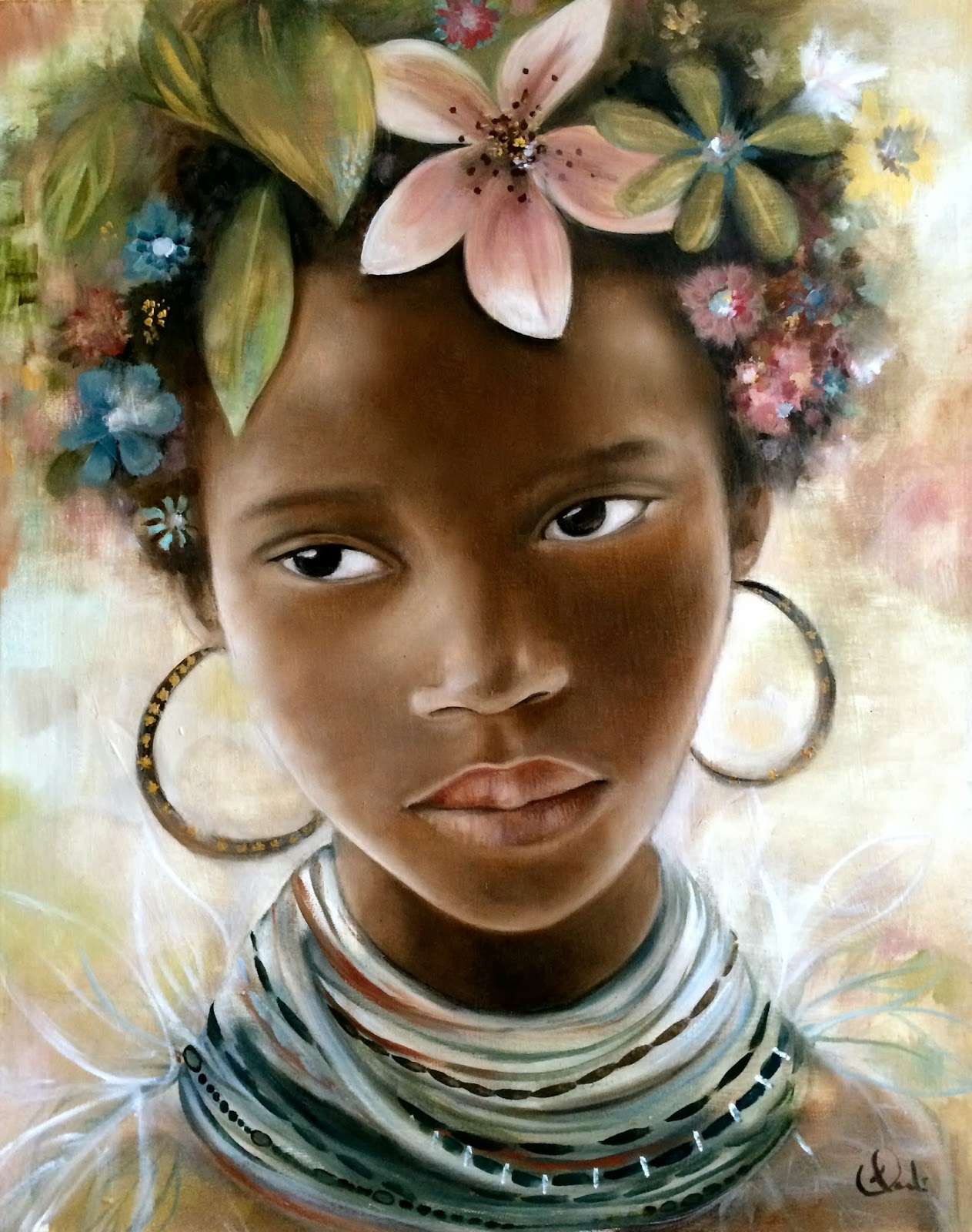 Claudia Tremblay : portrait inspired by the mursi tribes.