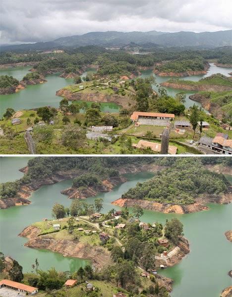 صخرة جوتيبا يحيطها البحيرات والجزر