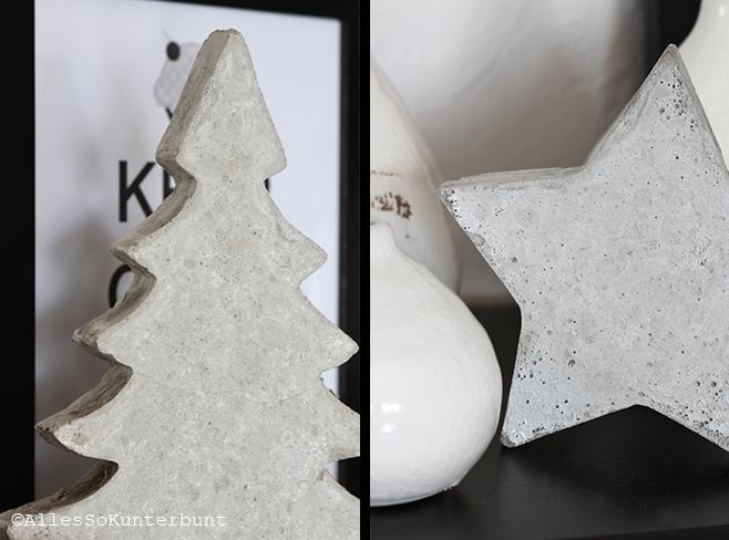 allessokunterbunt: diy | weihnachtsdeko aus beton, Garten und erstellen