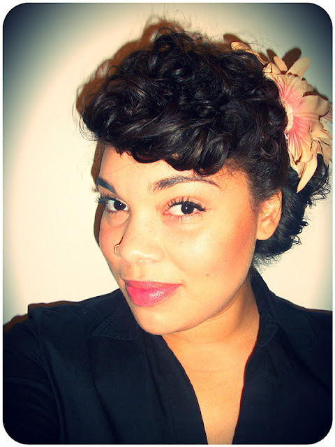 natural hair, retro, curly hair, updos, antoinette henry, around the way curls