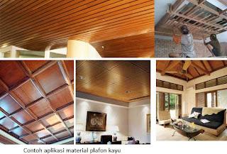 contoh jenis plafon kayu di rumah