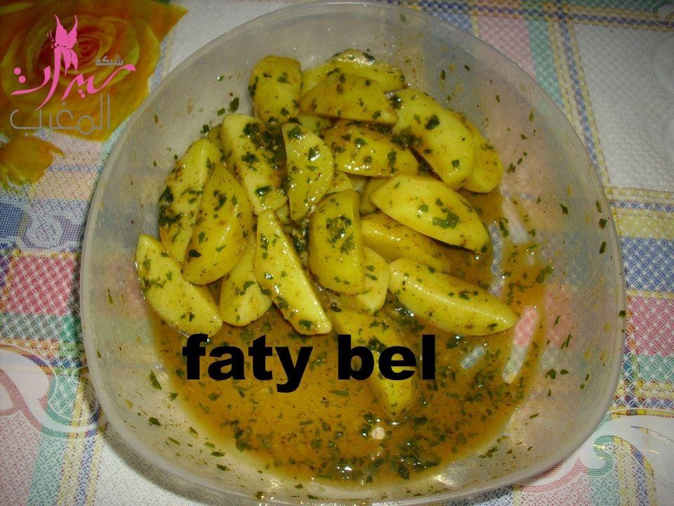 بطاطس مشرملة و مقلية كتجي بنييينة