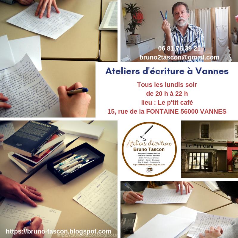 Bruno Tascon (Animateur) (Ateliers Artistiques Créatifs Littéraires - LORIENT - AURAY - VANNES )