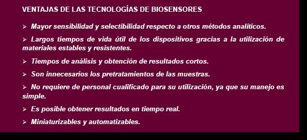 Ventajas de la tecnología de biosensores