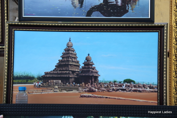 south india temple oil painting