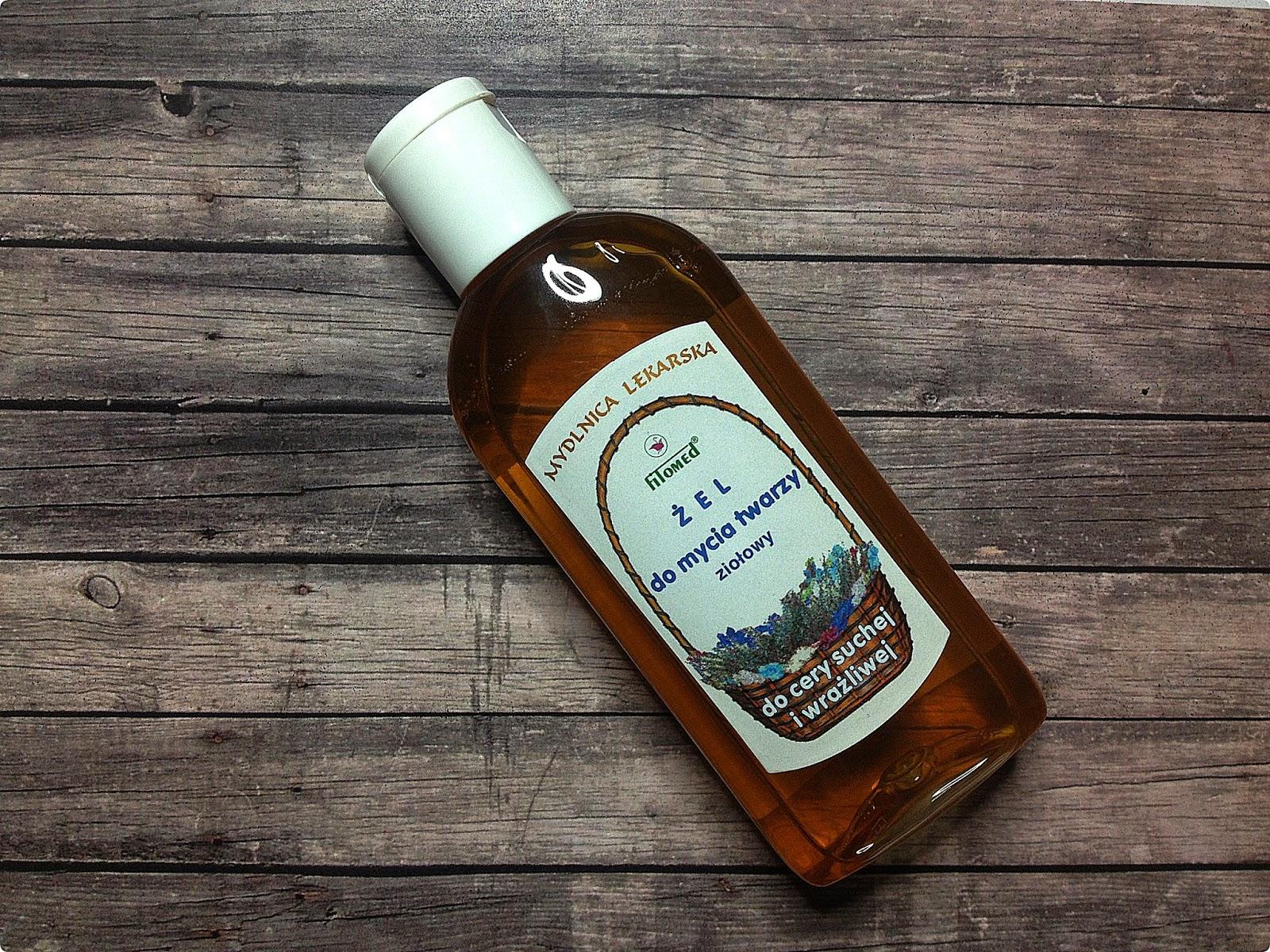 Żel ziołowy do mycia cery suchej i wrażliwej, Mydlnica lekarska, Fitomed