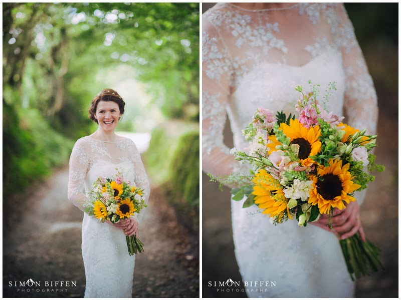 Bride portrait Trevenna Cornwall