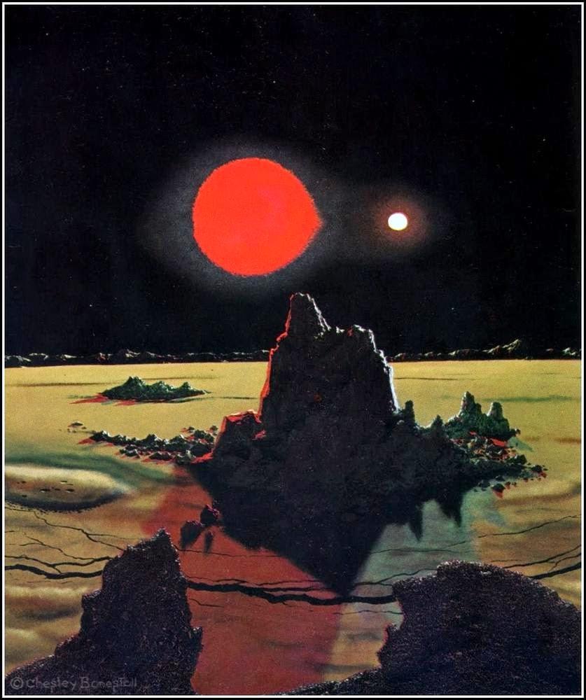 Chesley Bonestell Pintura Ciencia Ficción