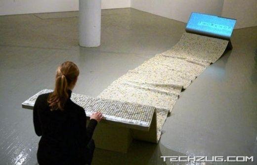 اغرب واكبر لوحه مفاتيح (كيبورد) فى العالم - longest keyboard in the world