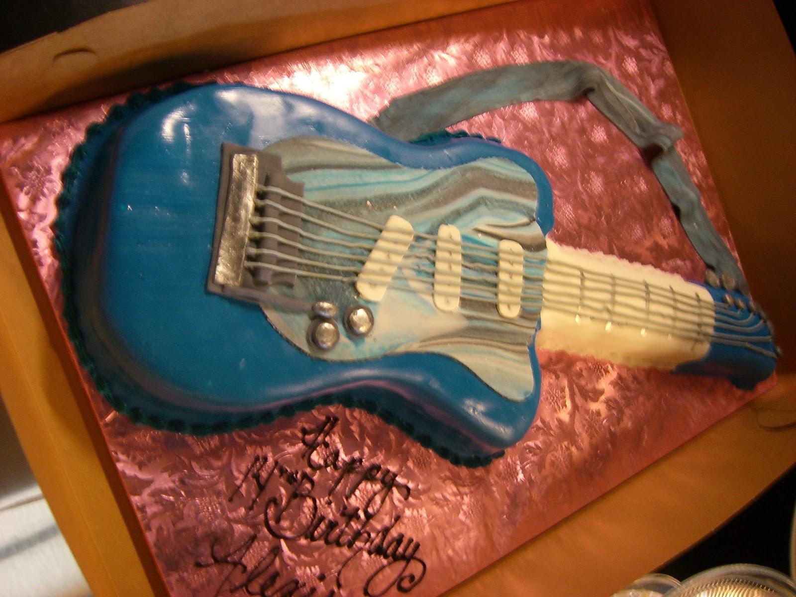 Cake Art Lawrenceville Hwy : CAFE AROMAS: Guitar Cake