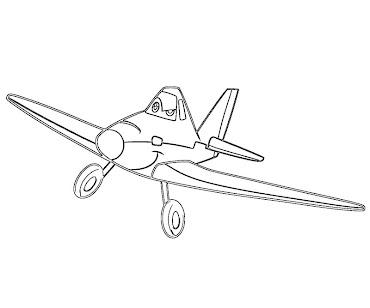 #5 Disney's Planes Coloring Page