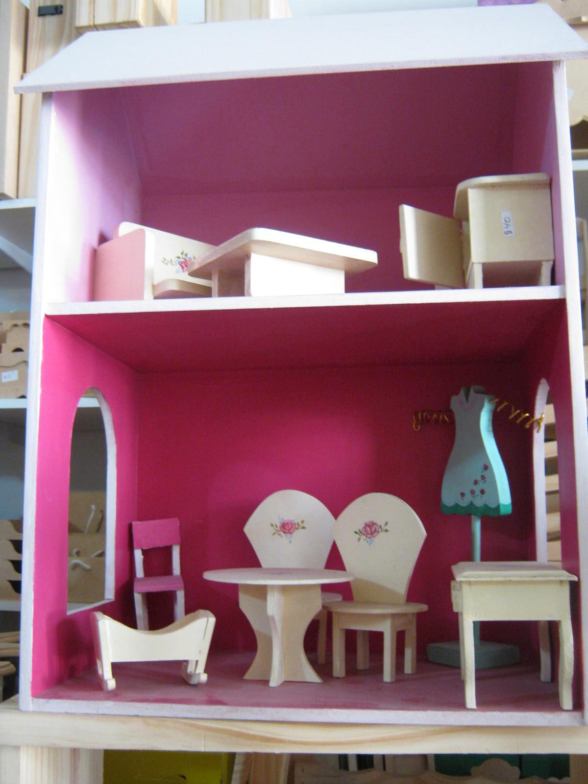 Casa de muñeca , y muebles , pintados ( personalizado )