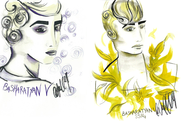 fashion, illustration, art, fashion scout, lfw, british, art, drawing, catwalk, models, trend, cool.