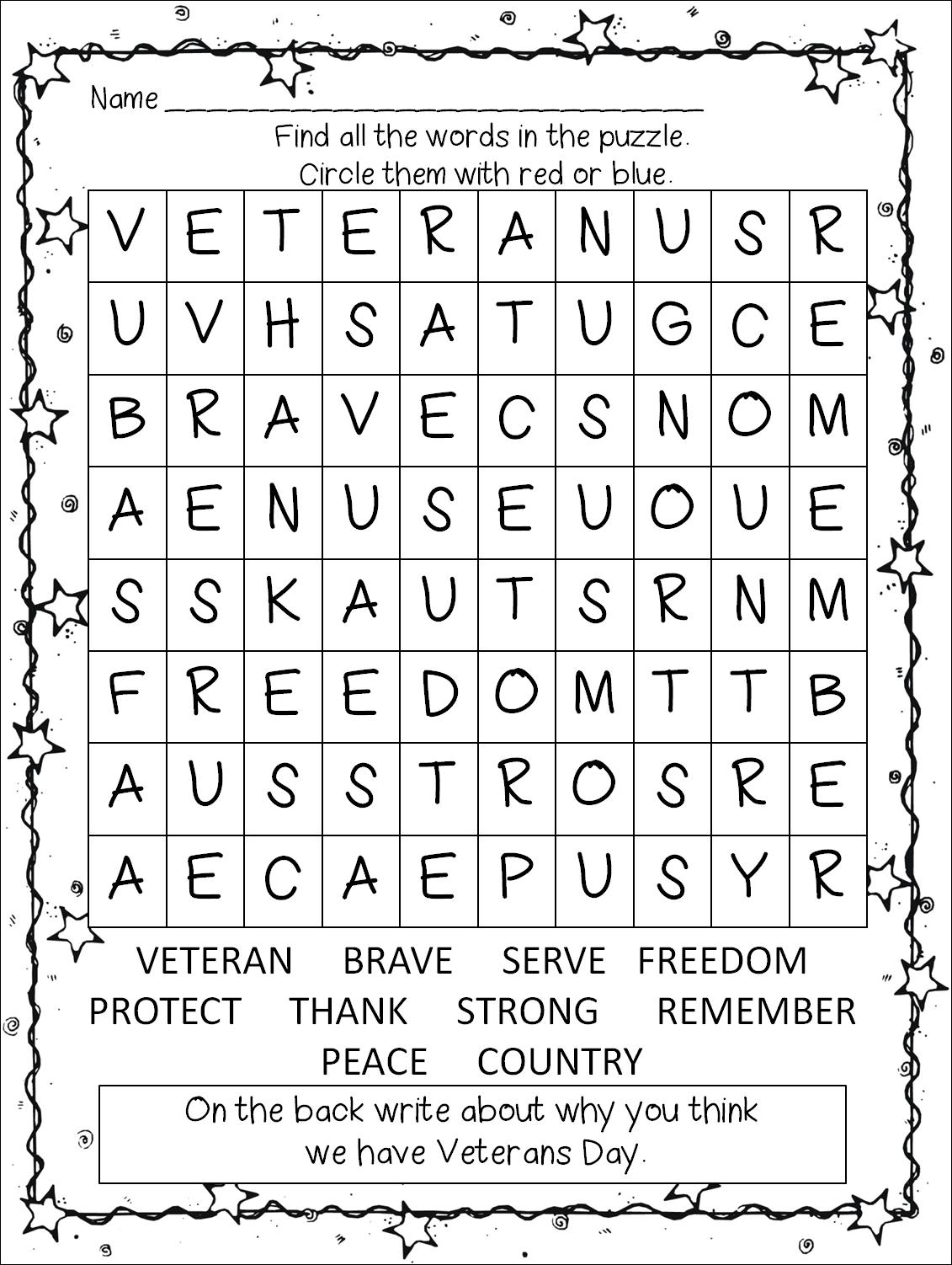 First Grade Wow: Veterans Day Unit- Thank You Veterans!
