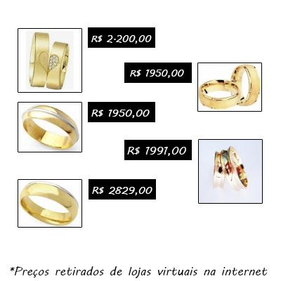 Fotos de anéis de namoro de ouro
