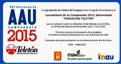 Lanzamiento del campeonato 2015 de la Agrupación de atletas del Uruguay (MAM, 25/feb/2015)