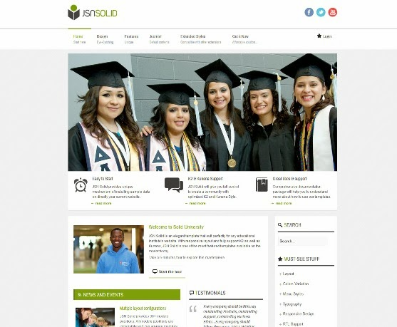 JSN Solid Responsive Joomla Education Template