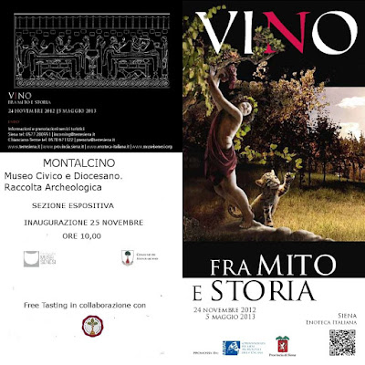 Between myth and history. The story of wine. Exhibition in Montalcino.