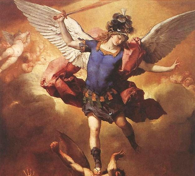 Diário dos Sonhos Lúcidos de Emerson Pawoski - Página 4 Archangel%2BMichael%2Bat%2Bthe%2BFall%2Bof%2Bthe%2BRebel%2BAngels%252C%2BLuca%2BGiordano%252C%2B1666.