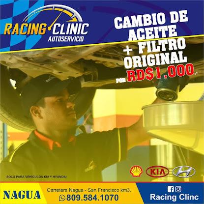 Cambio de Aceite + Filtro Original por RD$1,000.-