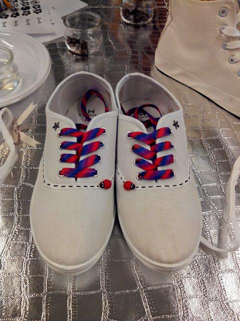 tennis, la halle aux chaussures, DIY, customisation, bullelodie