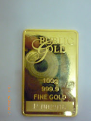 Gold Bullion Bar, 100gm
