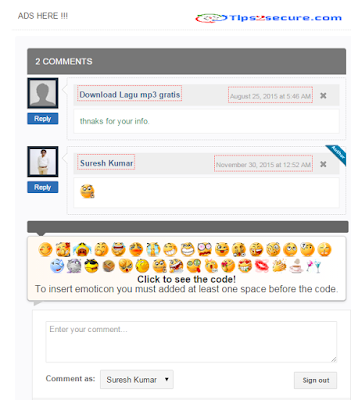 add emoticons in blogger comments