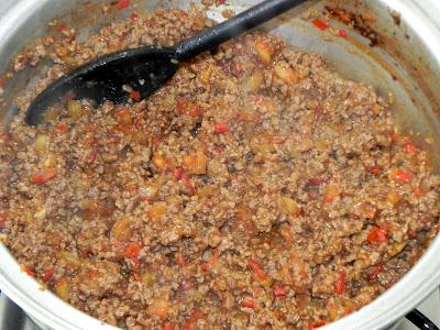 receita carne moida com molho