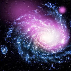 Dwarf Galaxy Caught Ramming Into a Large Spiral Galaxy