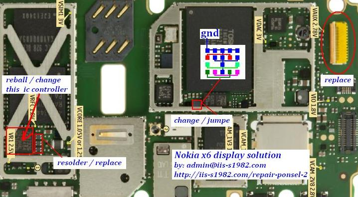 Nokia x6 display blank white screen Solution.jpg