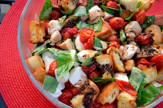Caprese Panzanella Salad recipe
