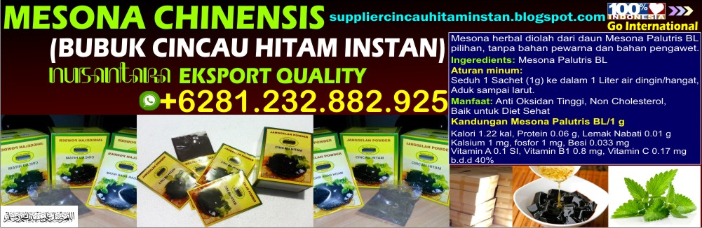Cincau Hitam, Cincau Hitam Bubuk, Grass Jelly Powder, Mesona Chinensis