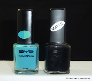 BYS Color change blue and Matte Black
