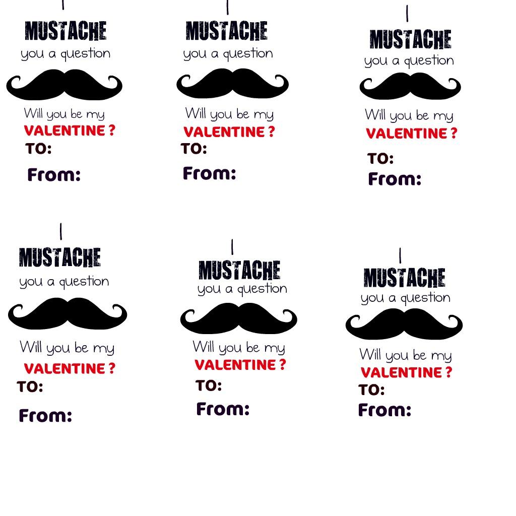 Ruffed Up eDGes – Mustache Valentine Cards