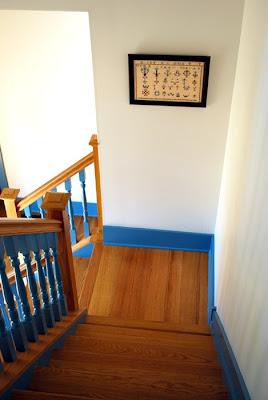 Colonial blue stairway