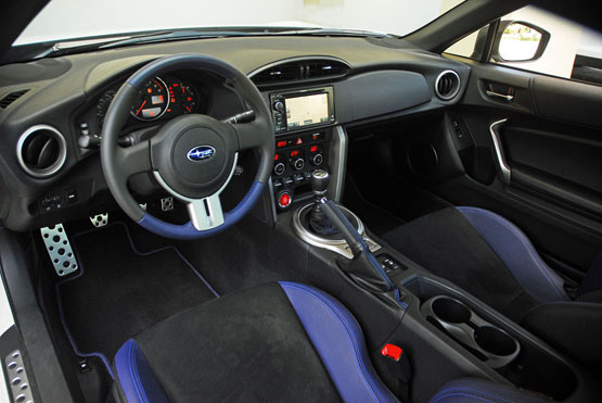 Interior view of 2015 Subaru BRZ Series Blue