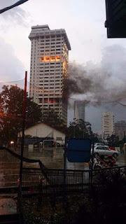 isu 1mdb dikaitkan dengan polis bukit aman terbakar