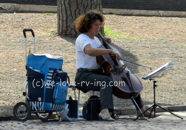 We could hear this musician as we wandered among the ruins in Rome