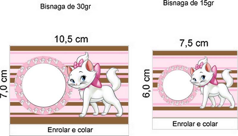 Gatinha Marie Da Disney     Kit Completo Molduras Convites E R  Tulos