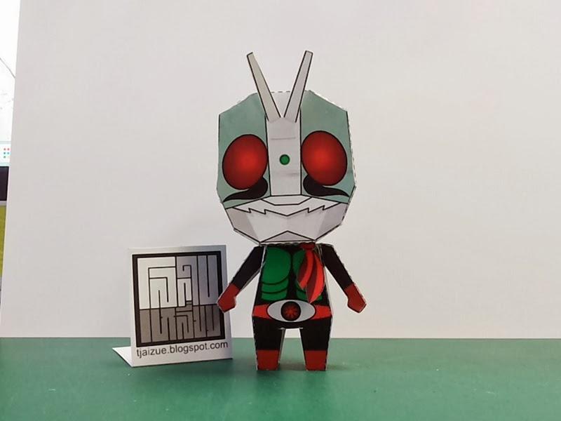 Kamen Rider 2 Paper Toy