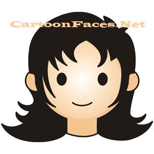 girl cartoon face
