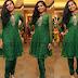 Shimmering Crystals Green Salwar