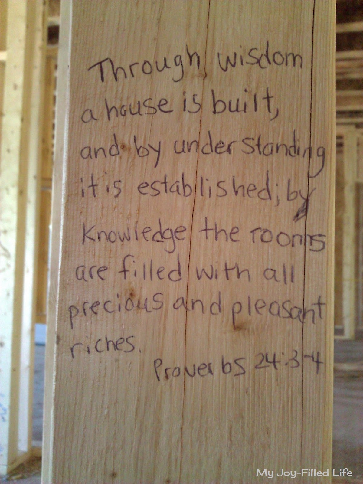 Building Our House On The Word Of God My Joy Filled Life