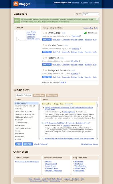 old dashboard user interface