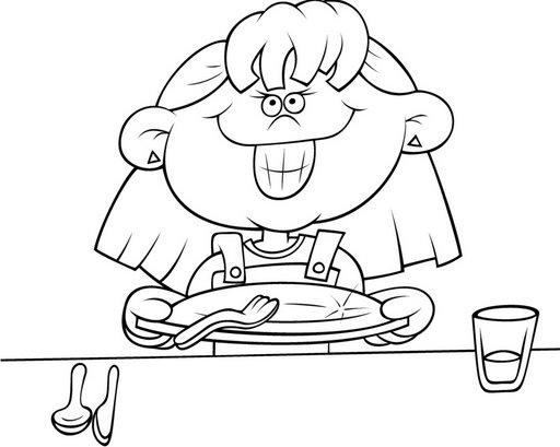 Imagenes de habitos alimenticios para colorear - Imagui