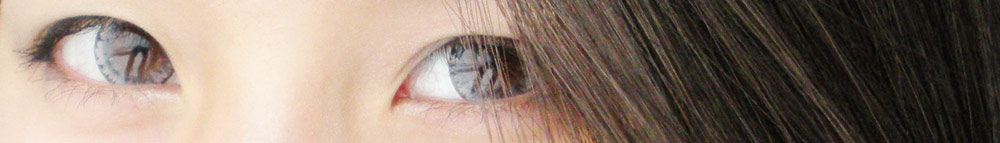 More photos of the EOS Ice Gray lenses from PinkyParadise, worn with ulzzang-inspired makeup.