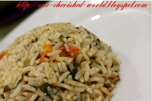 Our Cherished World - Spinach Rice