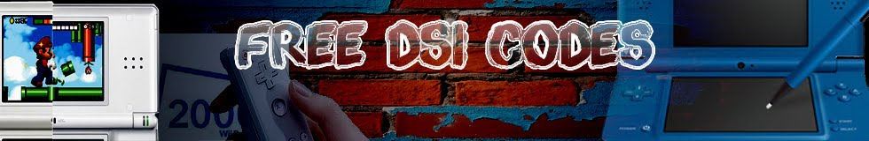 Free DSi/DSi XL Codes