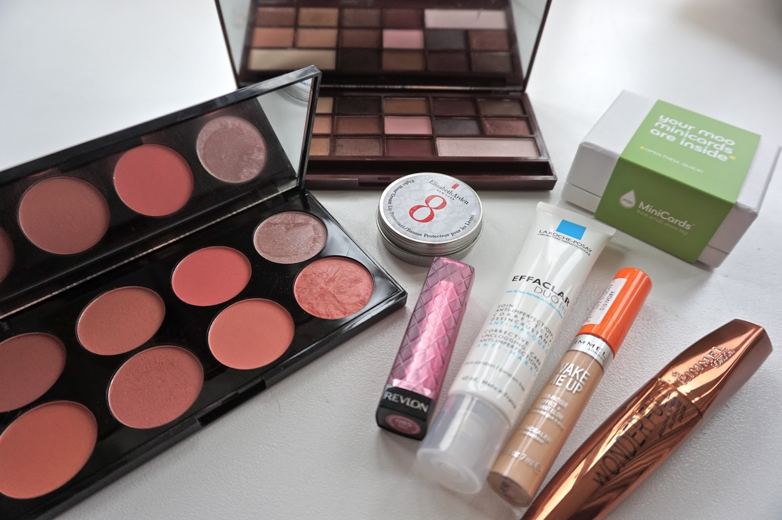 Makeup Revolution, Elizabeth Arden 8 Hour, Revlon, Rimmel, La Roche Posay, MOO Business Cards
